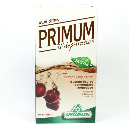 Primum Minidrink il Depurativo gusto Ciliegia Nera con Sambuco - 15 bustine