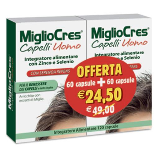 F&F _ MIGLIOCRES - Miglio Cres capelli uomo - 120 capsule