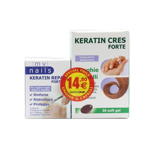 Promo: Keratin Cres forte 30soft gel + Keratin Rrpair forte 10ml
