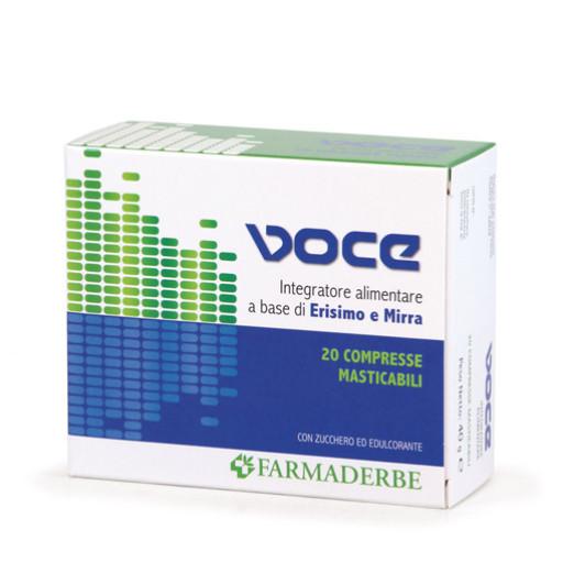 FARMADERBE - Voce - 20 compresse masticabili