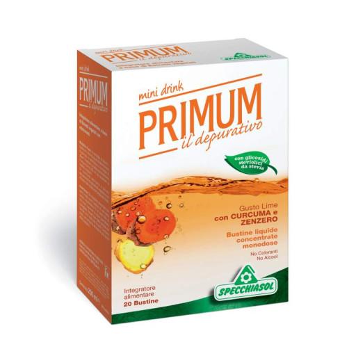 SPECCHIASOL - Primum Depurativo Minidrink gusto Lime con Curcuma e Zenzero - 20 bustine