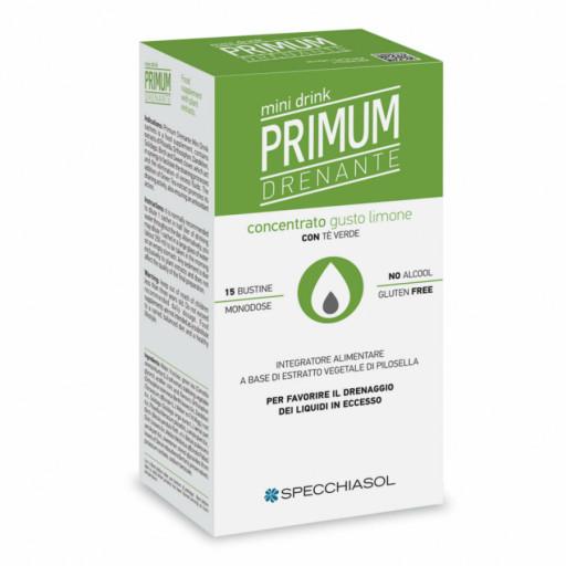 SPECCHIASOL - Primum Dren Minidrink gusto Limone con Tè Verde - 20 bustine