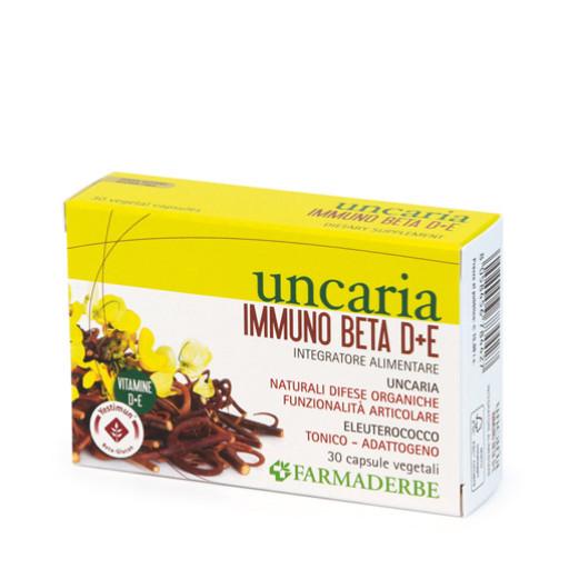 FARMADERBE - Uncaria Immuno Beta D+E - 30 capsule vegetali