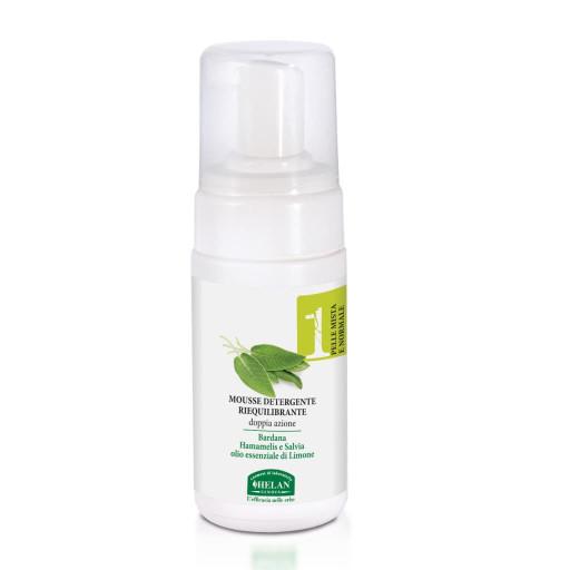 HELAN - Mousse Detergente Riequilibrante - Linea Viso 1 Pelle mista e normale - 100ml