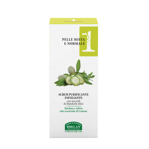 HELAN - Scrub purificante esfoliante - Linea Viso 1 Pelle mista e normale - 50ml