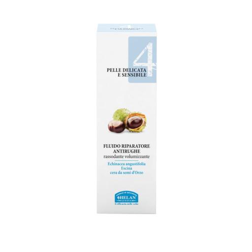HELAN - Fluido riparatore antirughe rassodante volumizzante - Linea Viso 4 Pelle delicata e sensibile - 30 ml