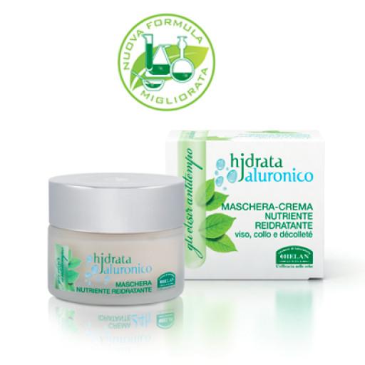 HELAN - Maschera-crema nutriente reidratante viso, collo e décolleté - Linea Hjdrata Jaluronico - 50ml