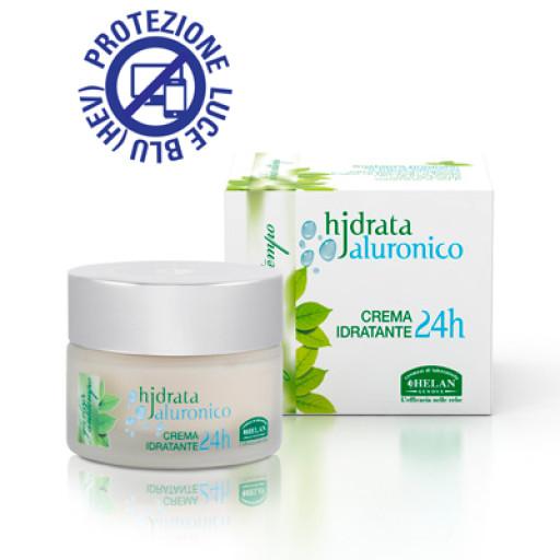 HELAN - Crema Idratante 24h viso, collo e décolleté - Linea Hjdrata Jaluronico - 50ml