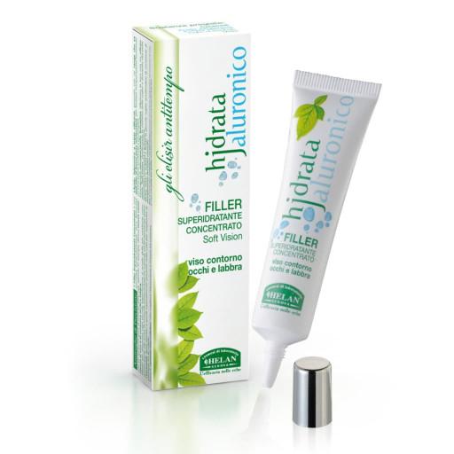 HELAN - Filler superidratante concentrato Soft Vision viso, contorno occhi e labbra - Linea Hjdrata Jaluronico - 15ml
