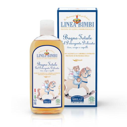 HELAN - Bagno totale gel detergente delicato viso, corpo e capelli - Linea Bimbi - 250ml