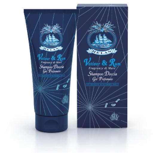 HELAN - Shampoo Doccia Gel Profumato corpo e capelli- Linea Uomo Vetiver & Rum - 250ml
