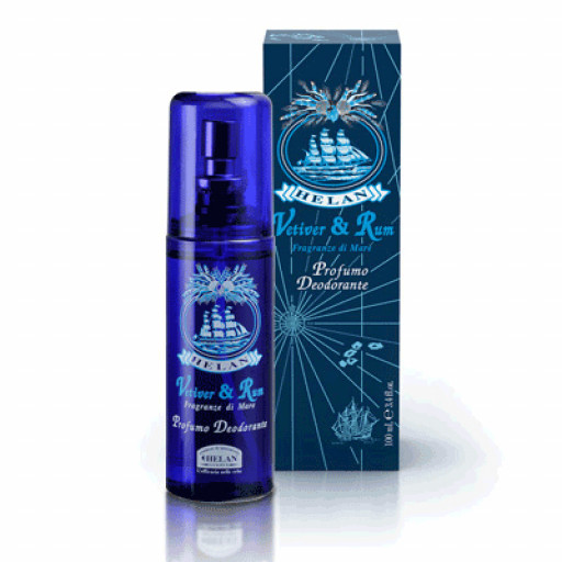 HELAN - Profumo Deodorante Spray no gas - Linea Uomo Vetiver & Rum - 100ml