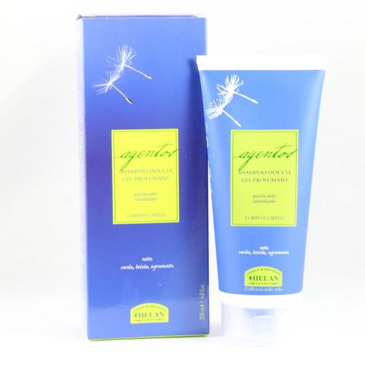 Shampoo doccia gel profumato corpo e capelli - Linea Ayentos - 200ml