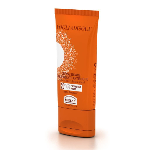 Crema Solare abbronzante antirughe spf 20 - Linea Voglia di Sole - 75ml