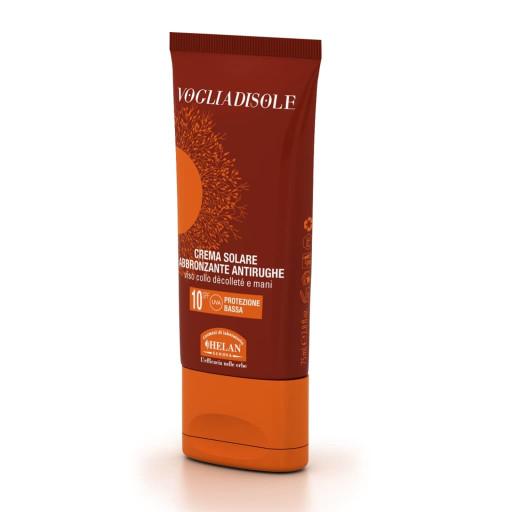 Crema Solare abbronzante antirughe spf 10 - Linea Voglia di Sole - 75ml