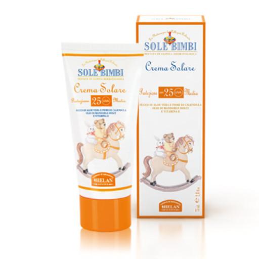 HELAN - Crema solare protezione media spf 25 - Linea Sole Bimbi - 75ml