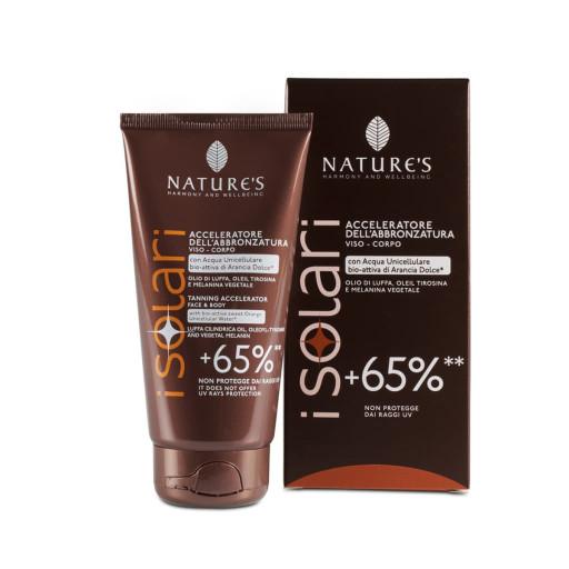 NATURE'S - Acceleratore dell'abbronzatura viso-corpo + 65% - Linea iSolari - 150ml