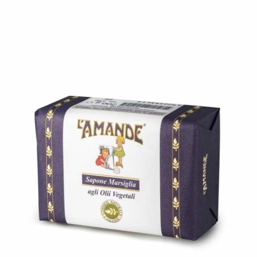 L' AMANDE - Sapone marsiglia agli olii vegetali - Linea L'Amande Marseille 200g