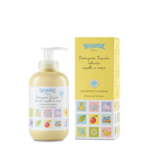 L'AMANDE - Detergente liquido delicato capelli e corpo - Linea Enfant - 250ml