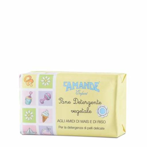 L'AMANDE - Pane detergente vegetale - Linea Enfant - 100g