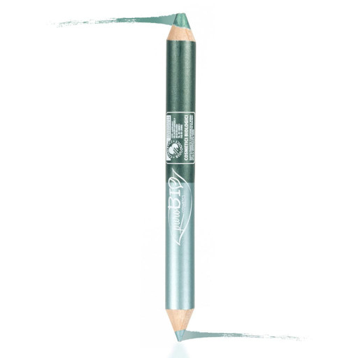 PUROBIO COSMETICS - Matitone duo night kayal+ombretto n.02 Ottanio-Verde smeraldo