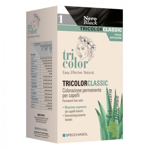 Tricolor tinta per capelli n.1 Nero - Linea Homocrin - 2 trattamenti