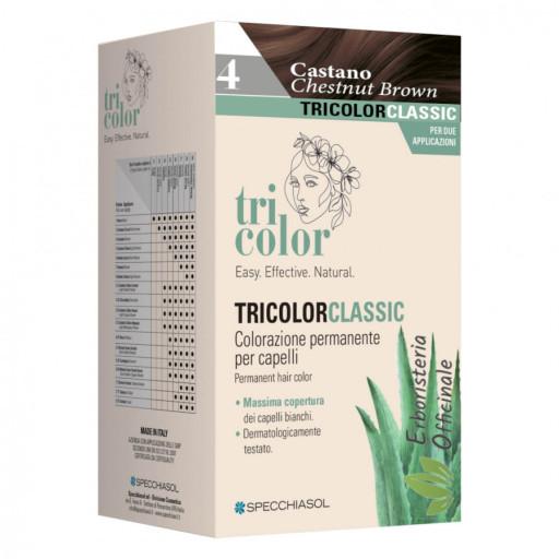Tricolor tinta per capelli n.4 Castano con 2 trattamenti - Linea Homocrin di Specchiasol