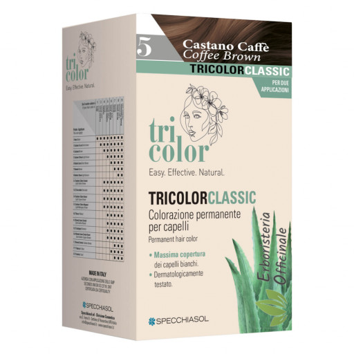 Tricolor tinta per capelli n.5 Castano chiaro - Linea Homocrin - 2 trattamenti