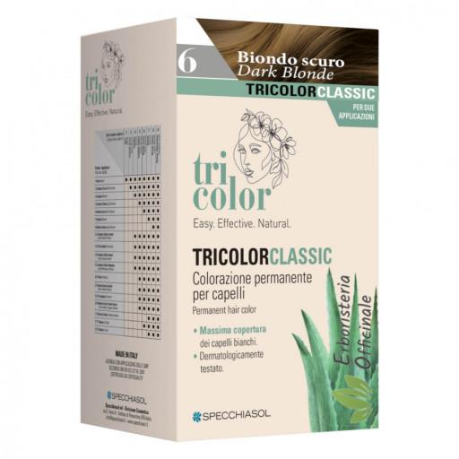 Tricolor tinta per capelli n.6 Biondo scuro - Linea Homocrin - 2 trattamenti