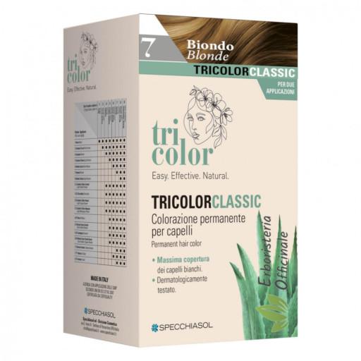 Tricolor tinta per capelli n.7 Biondo - Linea Homocrin - 2 trattamenti