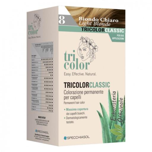 Tricolor tinta per capelli n.8 Biondo chiaro - Linea Homocrin - 2 trattamenti
