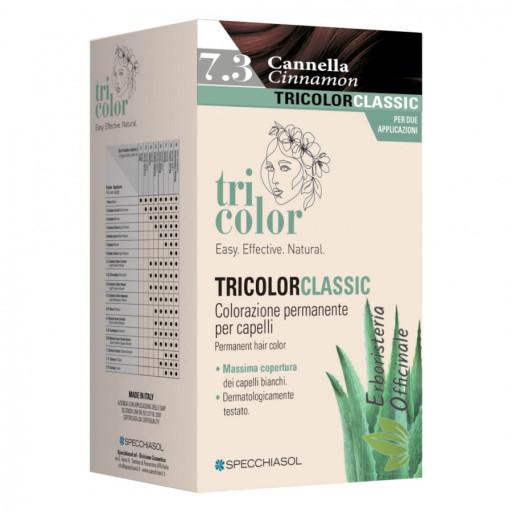 Specchiasol Linea Homocrin -Tricolor tinta per capelli n.7/3 Biondo dorato -  2 trattamenti