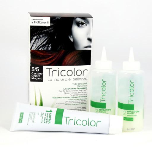 Tricolor tinta per capelli n.5/5 Castano chiaro mogano - 2 trattamenti