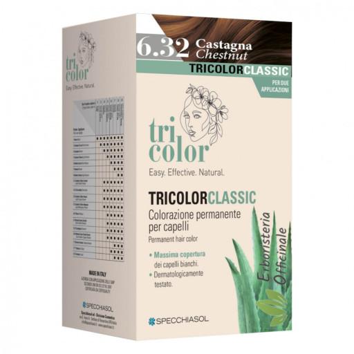 Tricolor tinta per capelli n.6/32 Castagna - Linea Homocrin - 2 trattamenti