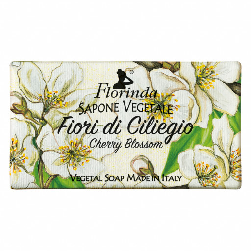 FLORINDA - Sapone vegetale ai Fiori di Ciliegio - 100g