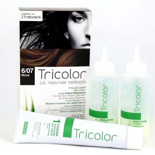 Tricolor tinta per capelli n.6/07 Noce - Linea Homocrin - 2 trattamenti