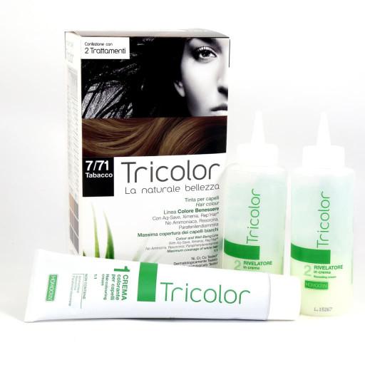 Tricolor tinta per capelli n.7/71 Tabacco - Linea Homocrin - 2 trattamenti
