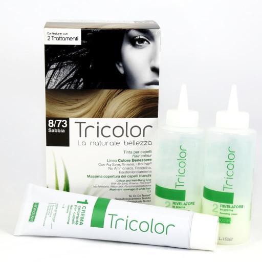 Tricolor tinta per capelli n.8/73 Sabbia - Linea Homocrin - 2 trattamenti