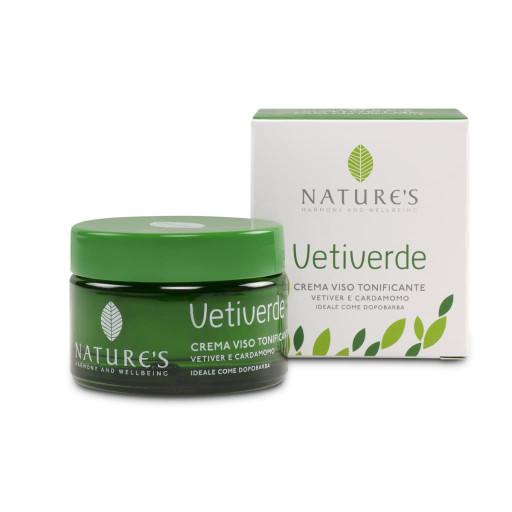 Crema Viso Tonificante - Linea Vetiverde - 50ml
