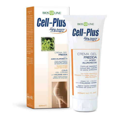 BIOS LINE  - Crema Gel Fredda Tonificante + Acido Ialuronico 3 - Linea Cell-Plus - 200ml