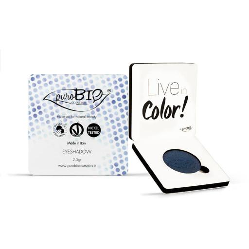 PUROBIO COSMETICS - Ombretto in cialda compatto shimmer n.07 Blu
