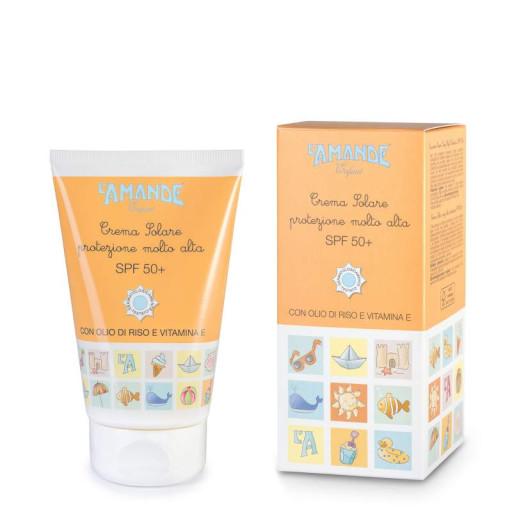 L'AMANDE - Crema solare protezione molto alta SPF 50+ - Linea Enfant Soleil - 100ml