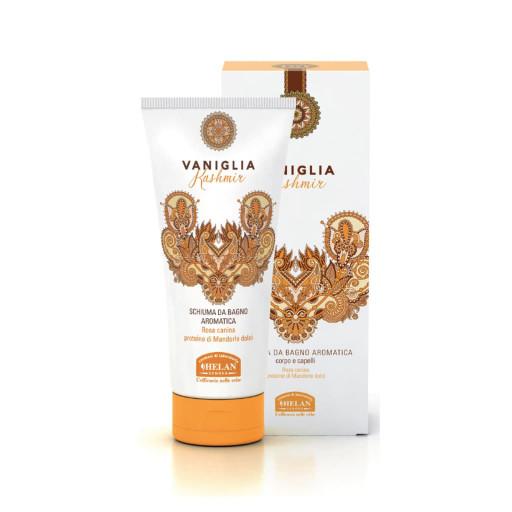 HELAN - Schiuma da Bagno Aromatica corpo e capelli - Linea Vaniglia Kashmir - 200ml