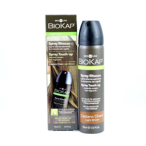 BIOS LINE  - Spray ritocco Castano chiaro - Linea Biokap - 75ml
