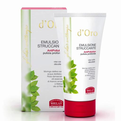 HELAN - Emulsione Struccante antipollution viso, collo e décolleté - Linea d'Oro - 150ml