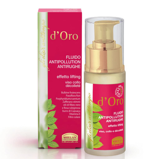 HELAN - Fluido antipollution antirughe viso, collo e décolleté - Linea d'Oro - 30ml