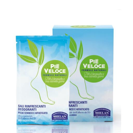 HELAN - Sali rinfrescanti deodoranti - Linea Piè Veloce - 6x5g