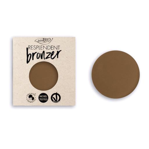 PUROBIO COSMETICS - Resplendent bronzer refill n.01 Marrone pallido