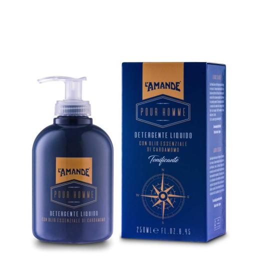 L'AMANDE - Detergente liquido tonificante - Linea Pour Homme - 250ml