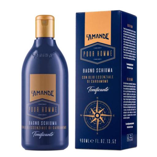 L'AMANDE - Bagno Schiuma Tonificante - Linea Pour Homme - 400ml